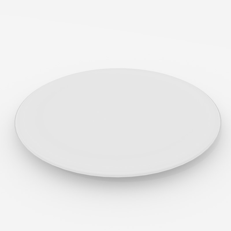 3D ceramic plate