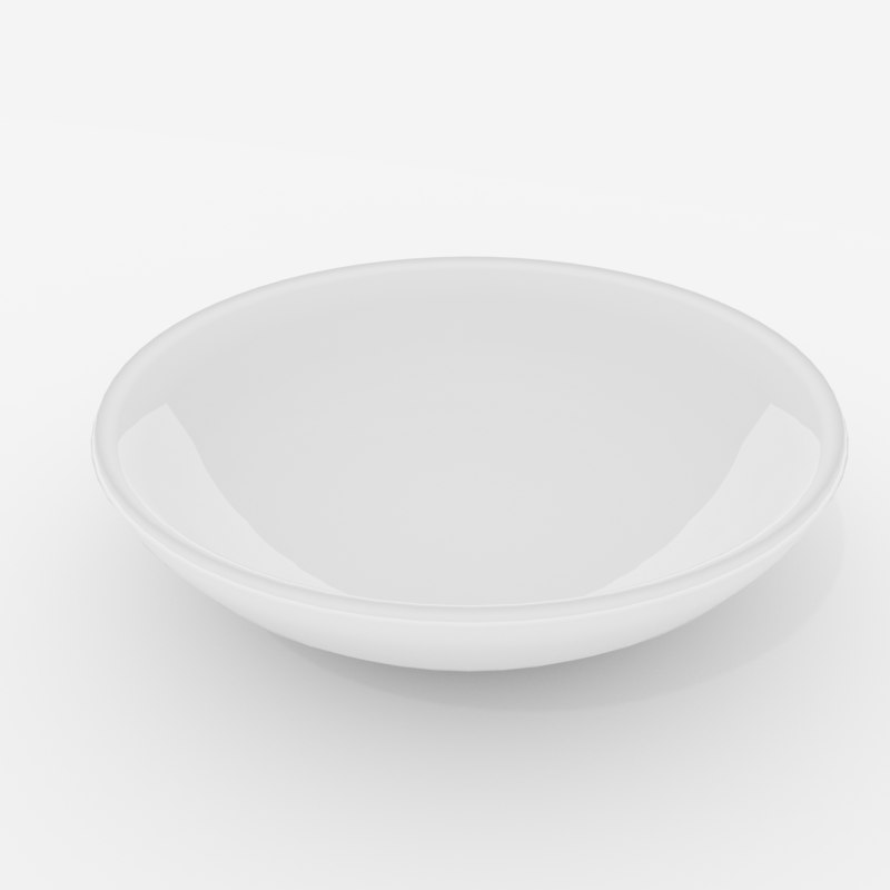 3D ceramic bowl model