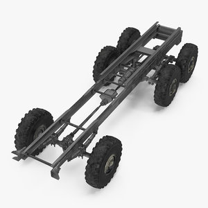 military truck chassis 3D model