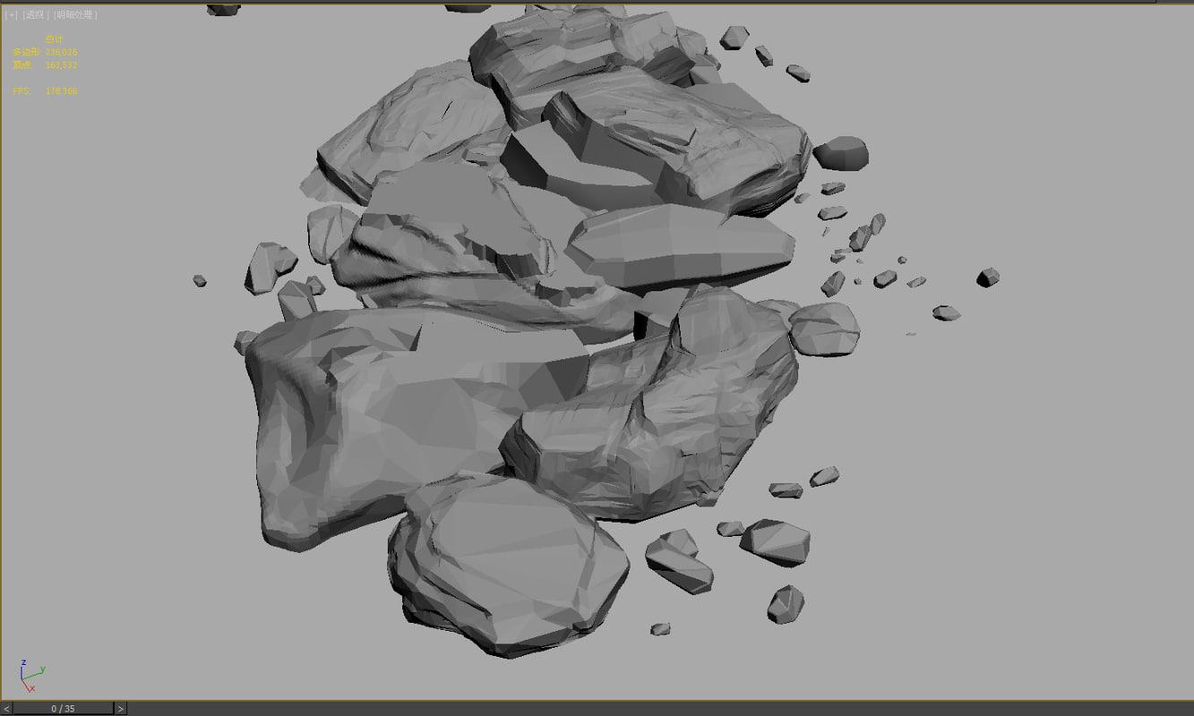 3D stone models2