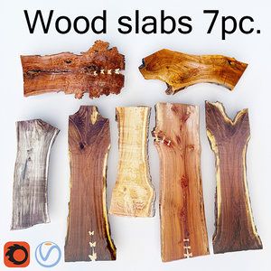 7 slabs wood 3D