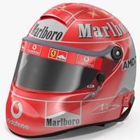 3D helmet michael schumacher 2004