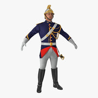 3D french republican guard traditional