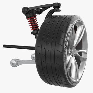 car suspension wheel 3D model