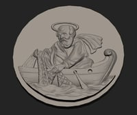 st Peter fisherman 3D print model
