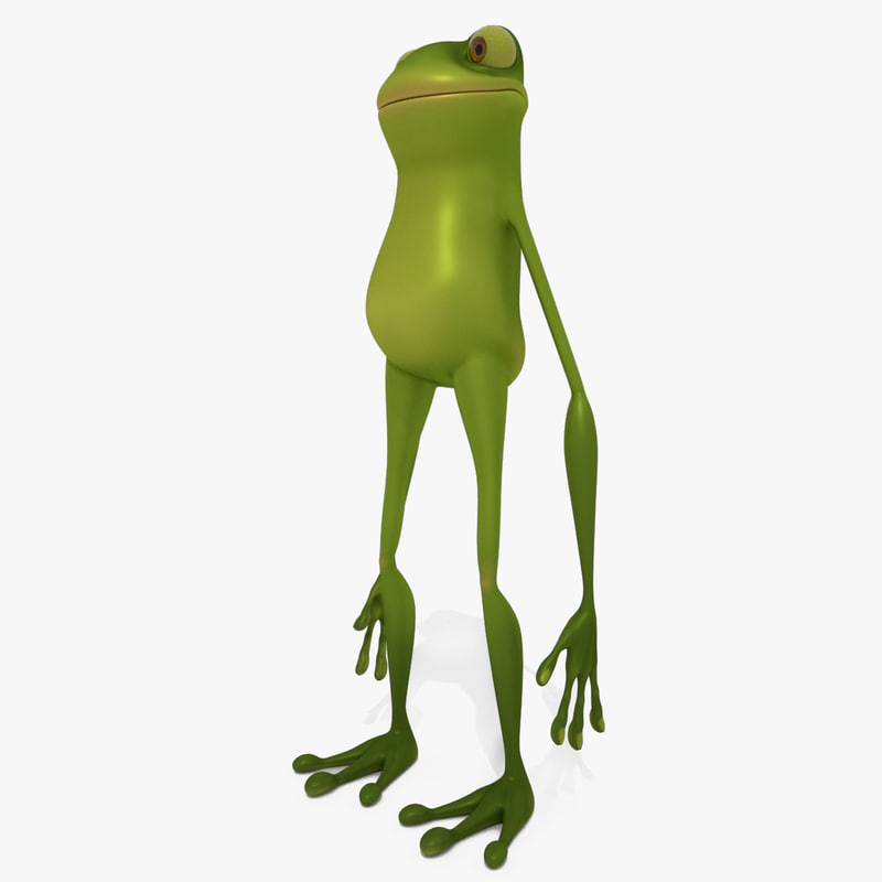 cartoon frog toon 3d turbosquid 1192545