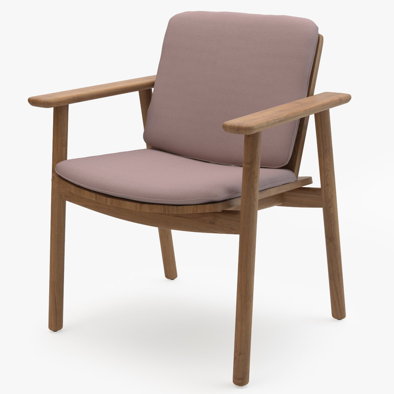 kettal riva dining armchair 3D model