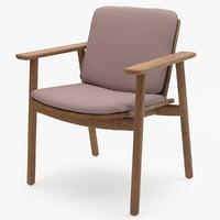 kettal riva dining armchair 3D model