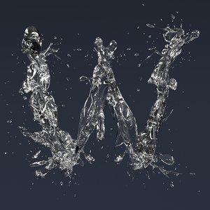 3D letter w