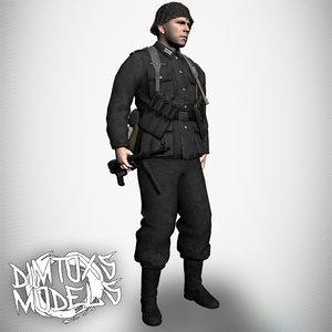 3D qualitative german soldier