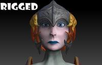 woman armour 3D model