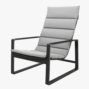 holly hunt heron lounge chair 3D model