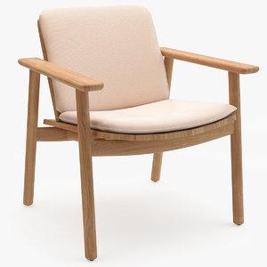 3D model kettal riva club armchair