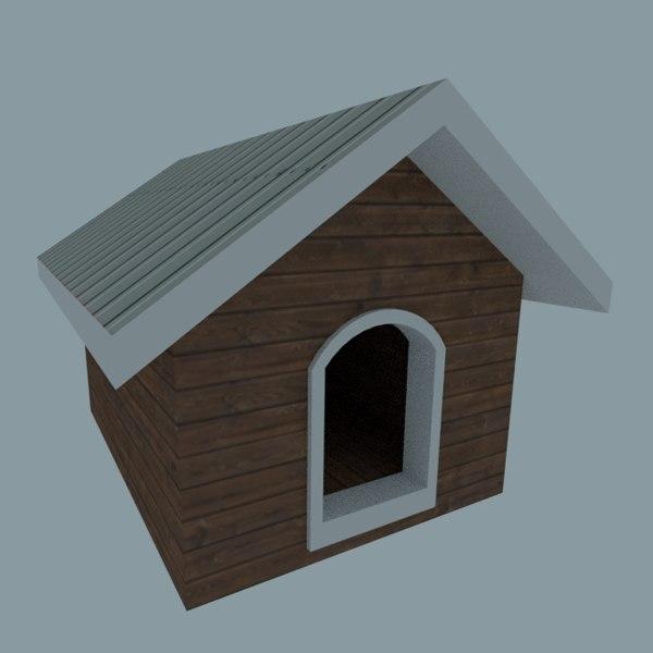 simple dog house 3D