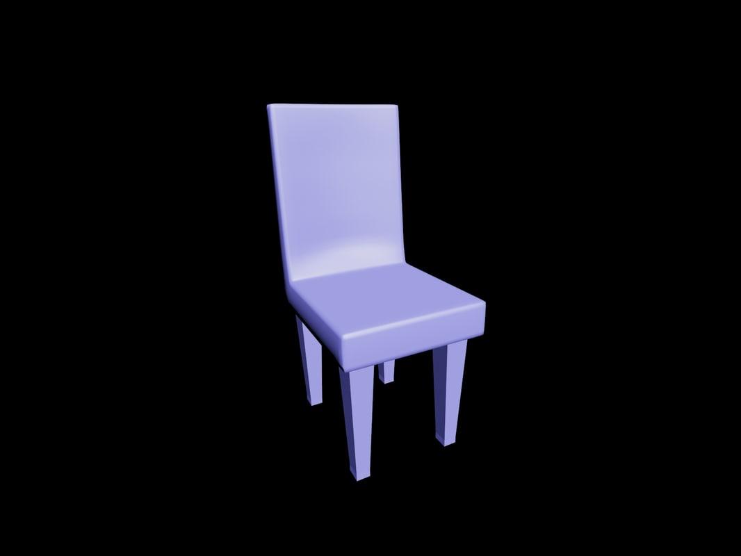 3D simple chair