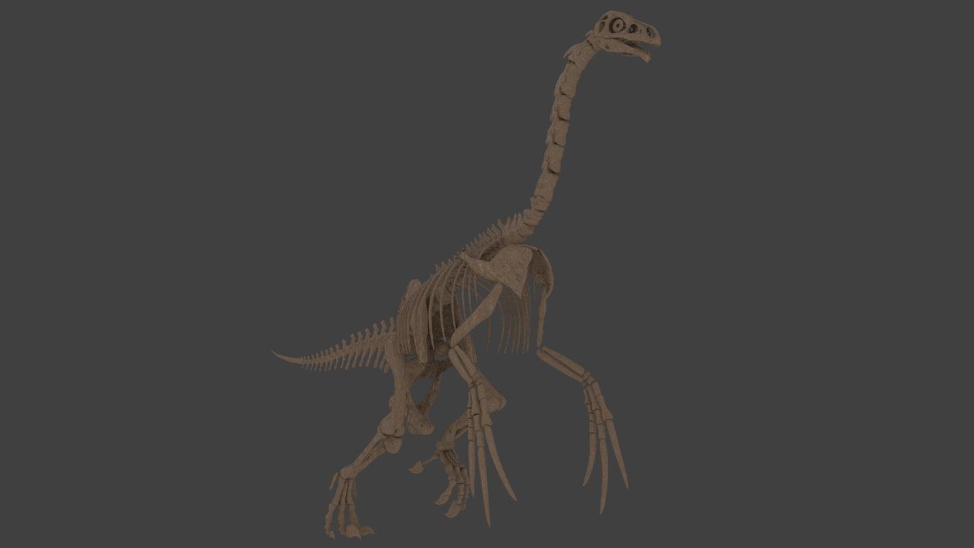 3D therizinosaurus skeleton model