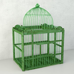 3D model green decorative cage zara