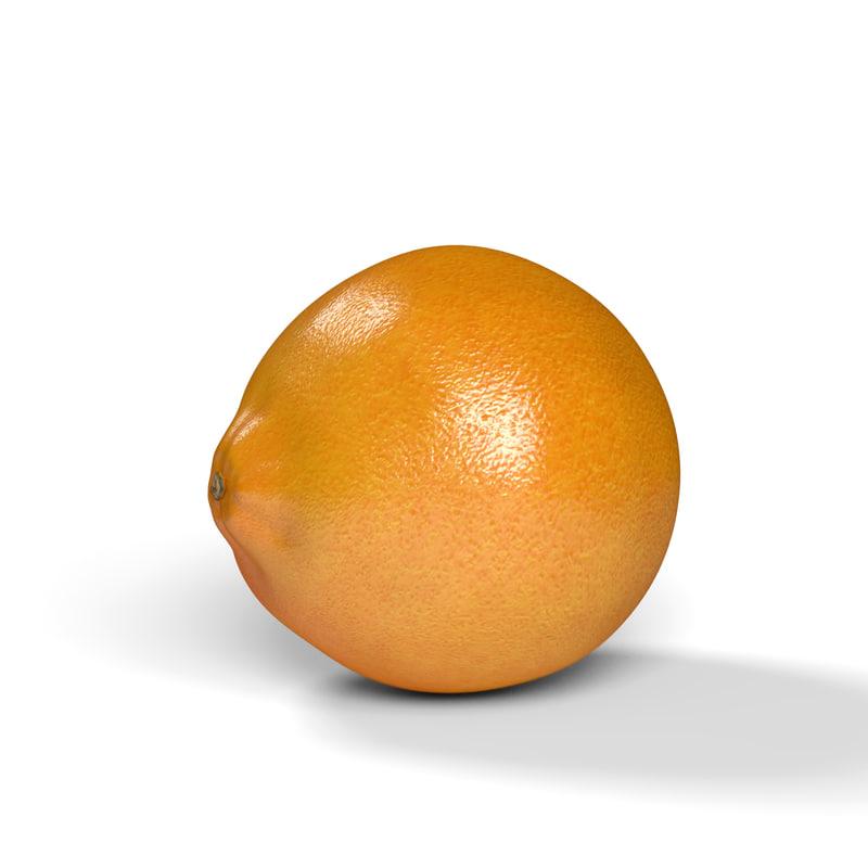 realistic orange 3D