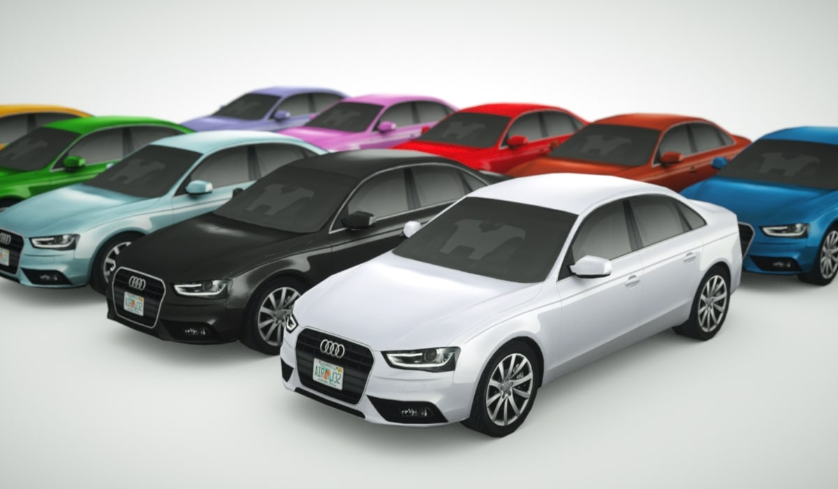 multi colored 2013 audi a4 model