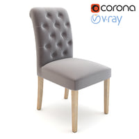 3D pompon tufted chair