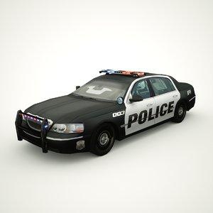 3D 2011 town car