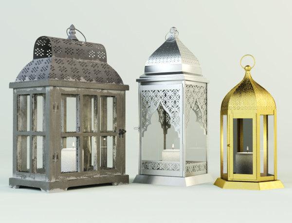 3D model lanterns zara home
