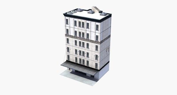 city loft apartment building 3D model