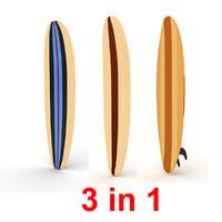 surfboard board surf 3D model