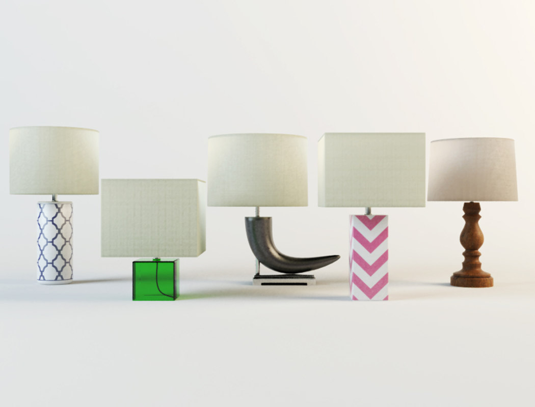 table lamps zara home 3D