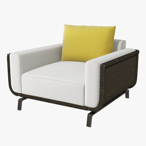 holly hunt lounge chair 3D model