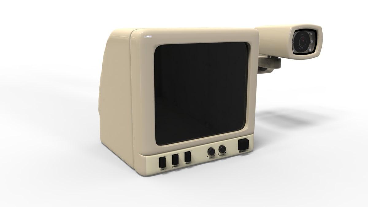 3D model camera monitor