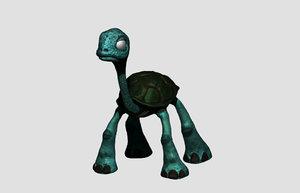 tortoise character 3D model