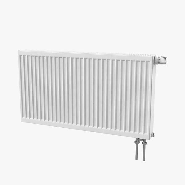 3D model steel radiator kermi connections