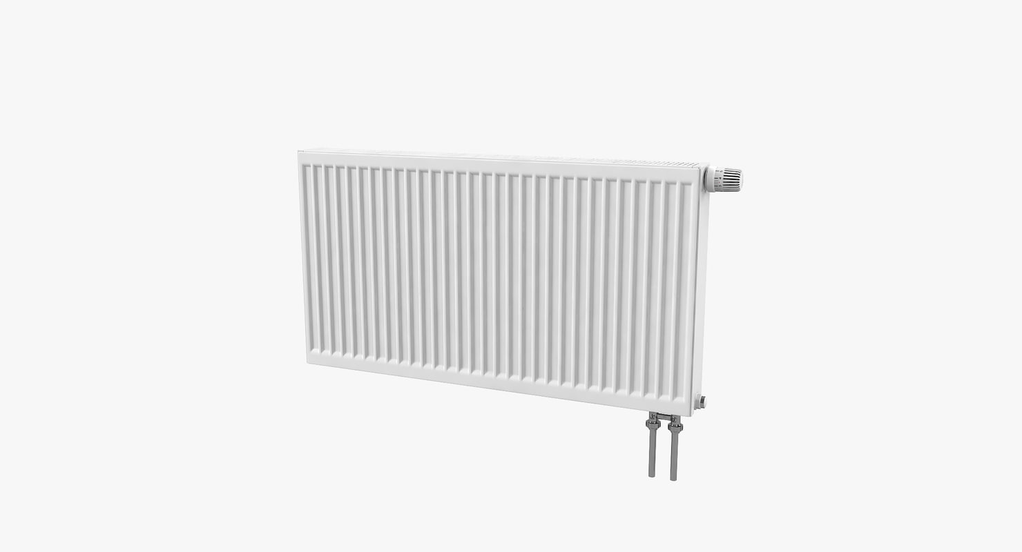 3D model steel radiator kermi connections