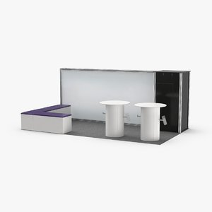 booth-and-backdrop-01----white 3D model
