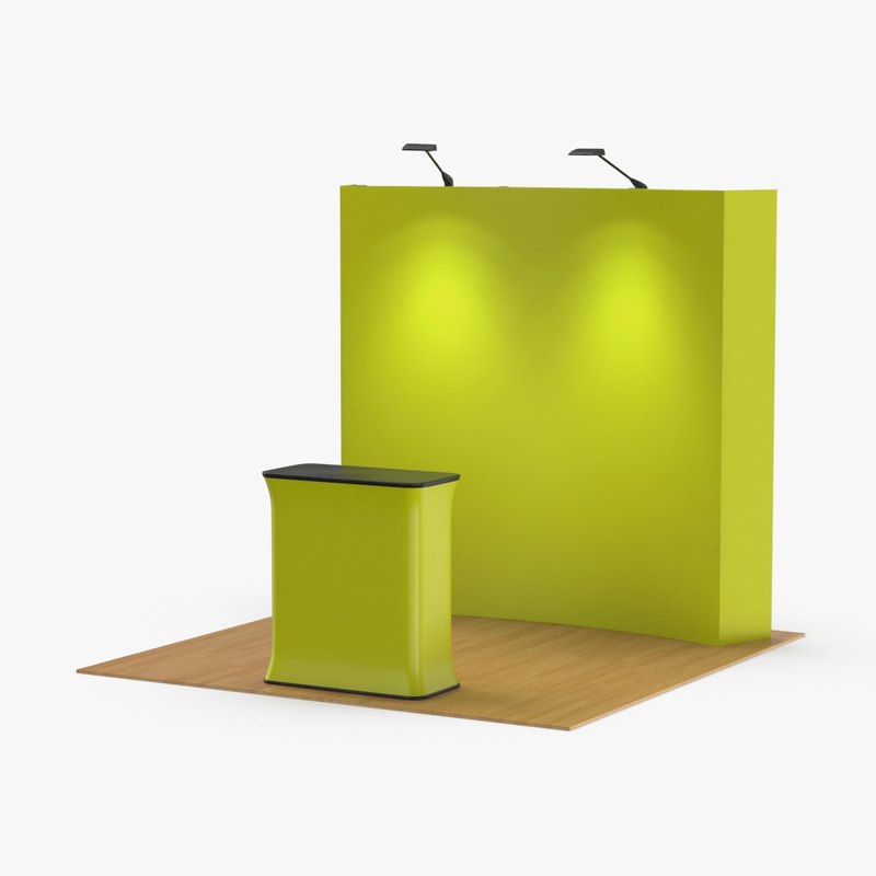 3D model booth-and-backdrop-01----yellow