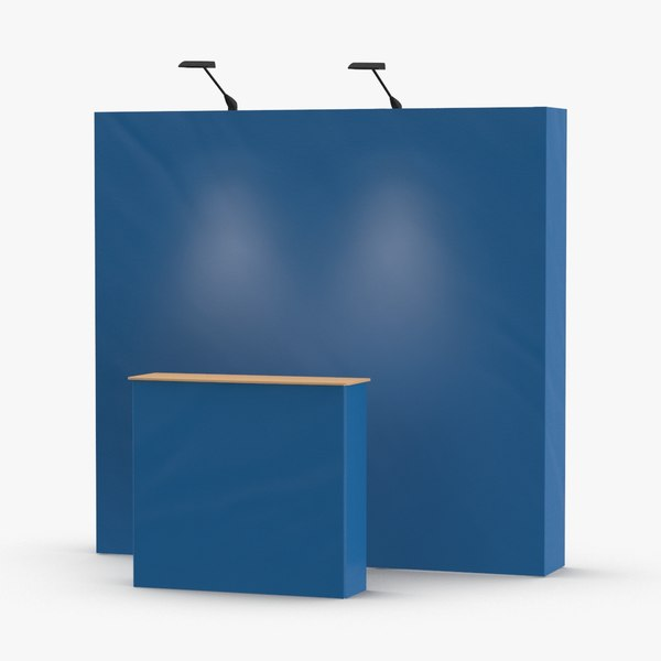 booth-and-backdrop-01----blue 3D model