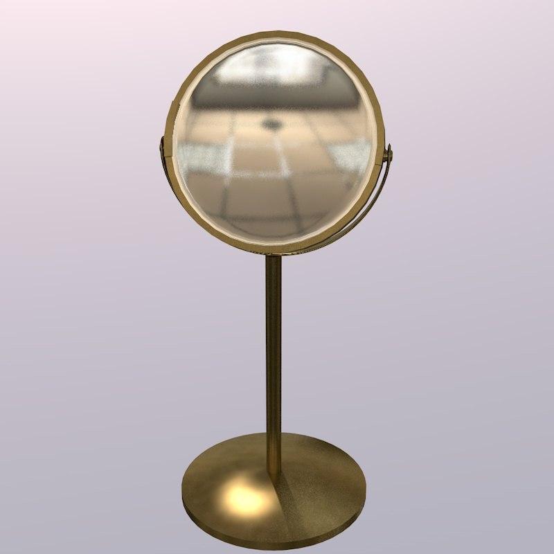 3D mirror gold