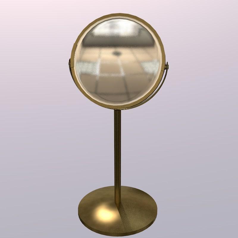 mirror gold 3D model