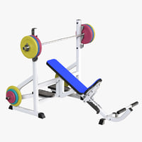 weight bench 3D