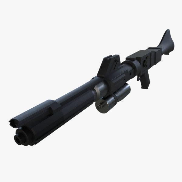 3D dc-15a blaster rifle pbr