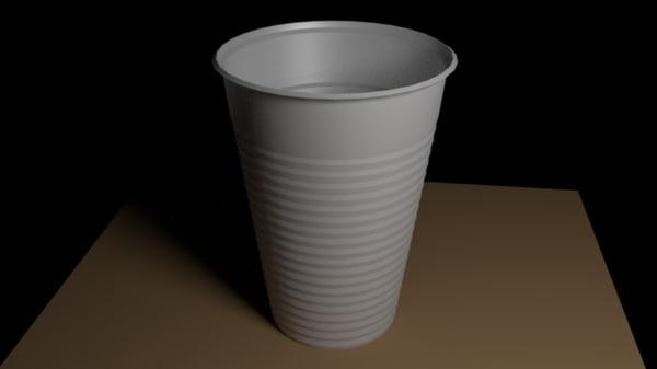 plastic cup model