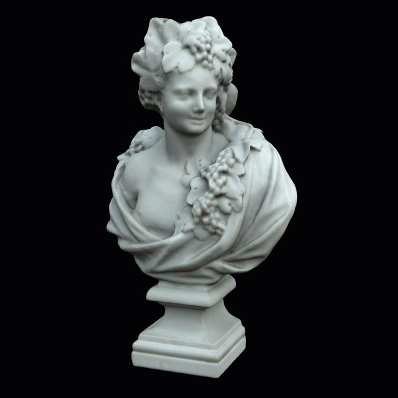 3D bust allegory autumn