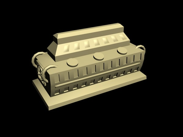 industrial engine 3D model
