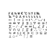 symbols4 ms pgothic font 3D model