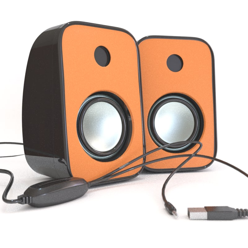 speaker laptop 3D model