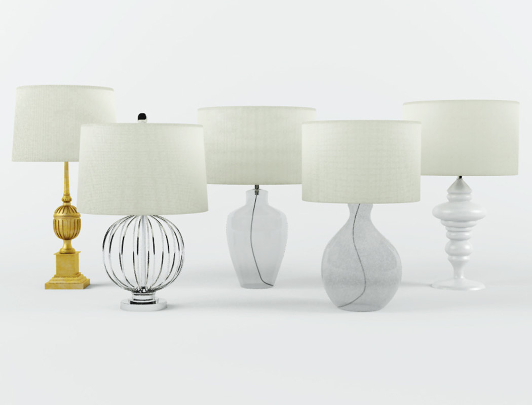 3D table lamps zara home