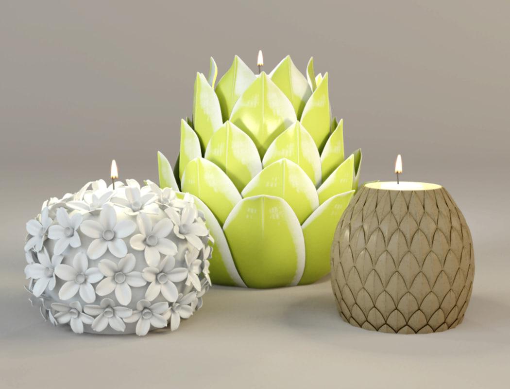 tealight holders zara 3D