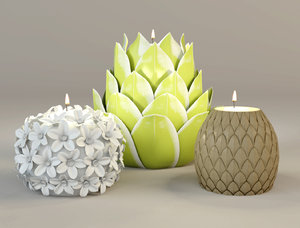 tealight holders zara 3D