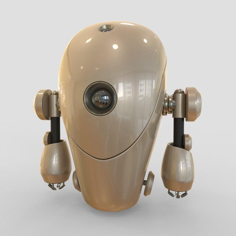 3D robot cartoon d model